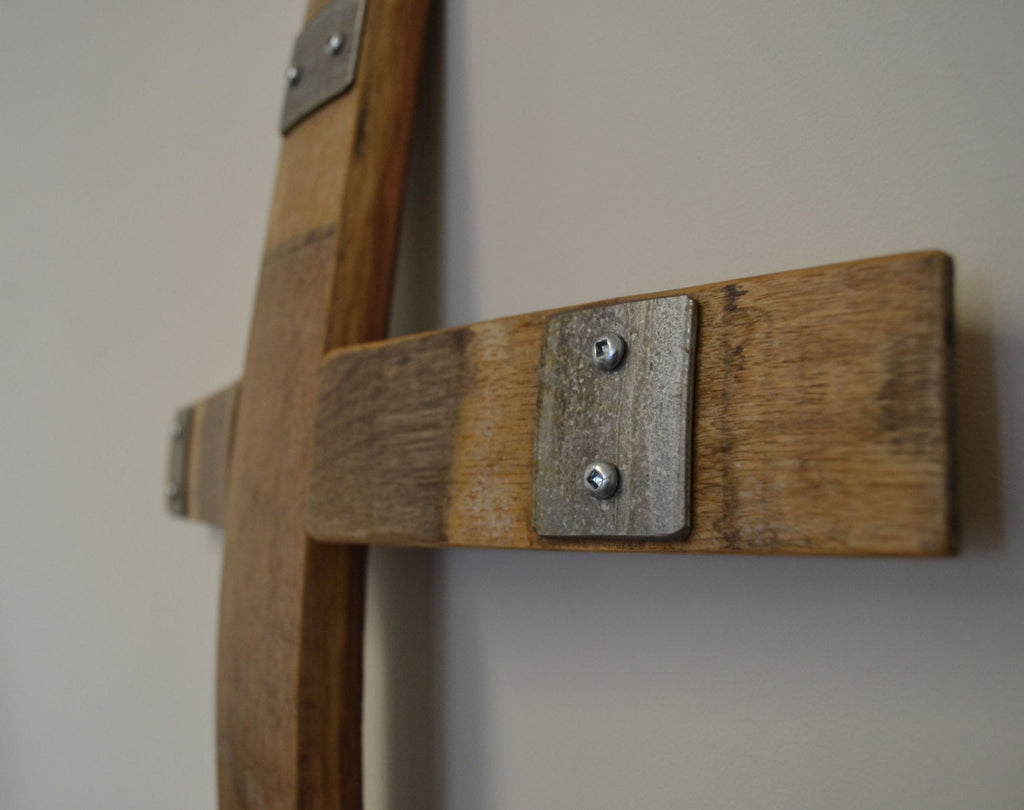 Wine Barrel Stave Wall Cross