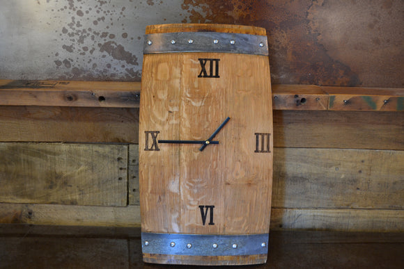 Custom Wine Barrel Stave Clock