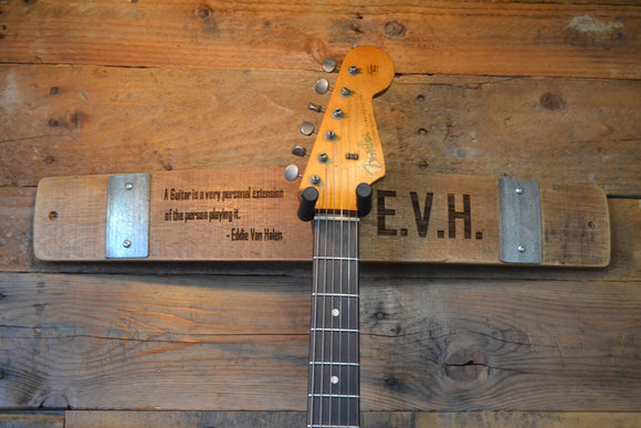 Personalized Wine Stave Wall Mount Guitar Holder