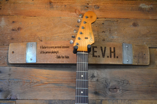 Personalized Wine Stave Guitar Holder/Wall Hanger/Wall Art/Music/Free Shipping/Guitar Rack/Bass Holder/Musician/Guitar Stand