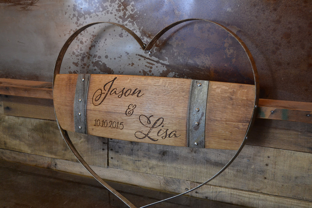 Personalized Wine Hoop Multi Stave Heart Sign/Valentines Gift/Romantic/Boyfriend/Girlfriend/Valentines Ideas/Handmade/Love/Free Shipping
