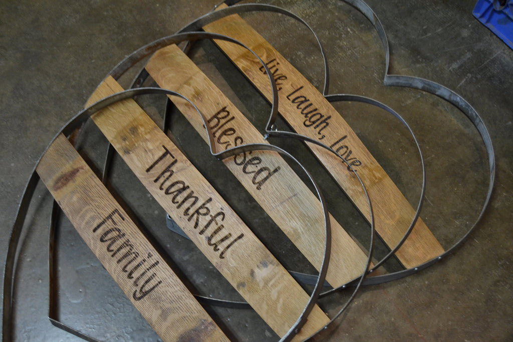 Personalized Wine Hoop Heart Sign/Valentines Gift/Romantic/Boyfriend/Girlfriend/Valentines Ideas/Handmade/Love/Free Shipping