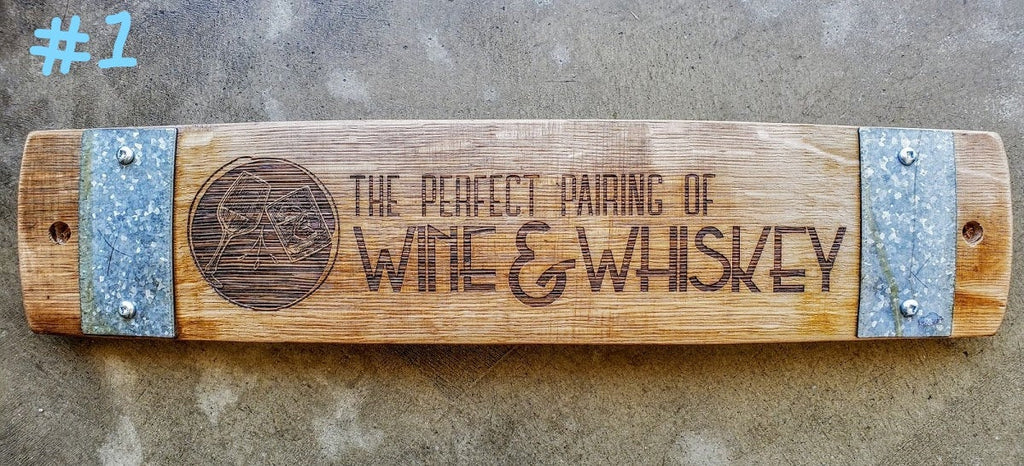 Wine/ Whiskey Wine Barrel Stave Signs/Sayings/Personalized/Laser Engraved/Gift Ideas/Wine Sayings/Free Shipping