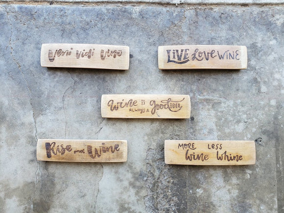 Mini Wine Barrel Stave Signs