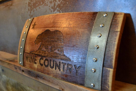 Wine Country Cali Bear Wine Barrel Stave Sign/Laser Engraved/Laser Engraving/Personalized/Wedding/Wall Art/Wall Hanging/Free Shipping