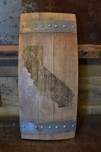 California Wine Barrel Stave Sign