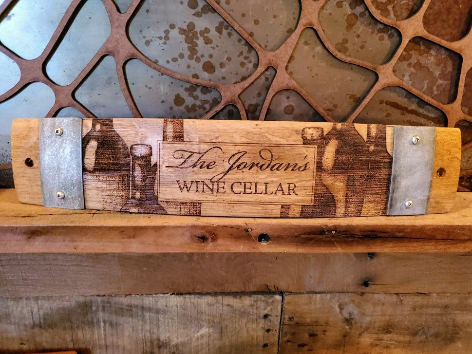 Anniversary/Wedding Wine Barrel Stave Signs/Sayings/Personalized/Laser Engraved/Gift Ideas/Wine Sayings/Free Shipping