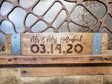 Wedding/Anniversary Wine Barrel Stave Signs