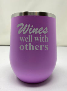 Custom Wine Saying Tumblers