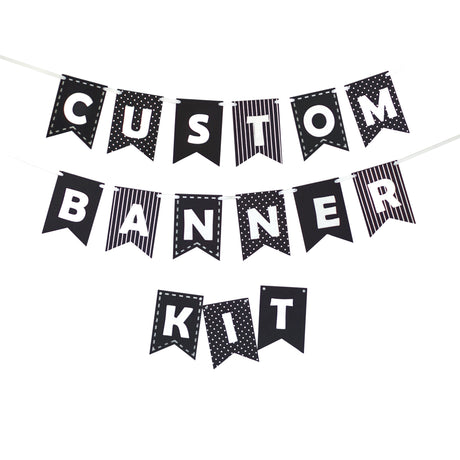 Custom Banner Kits Felt Laser Cut Banners - Black & White