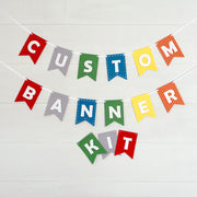 Custom Banner Kits Felt Laser Cut Banners - Party Colors