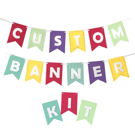 Custom Banner Kits Felt Laser Cut Banners - Girly Brights