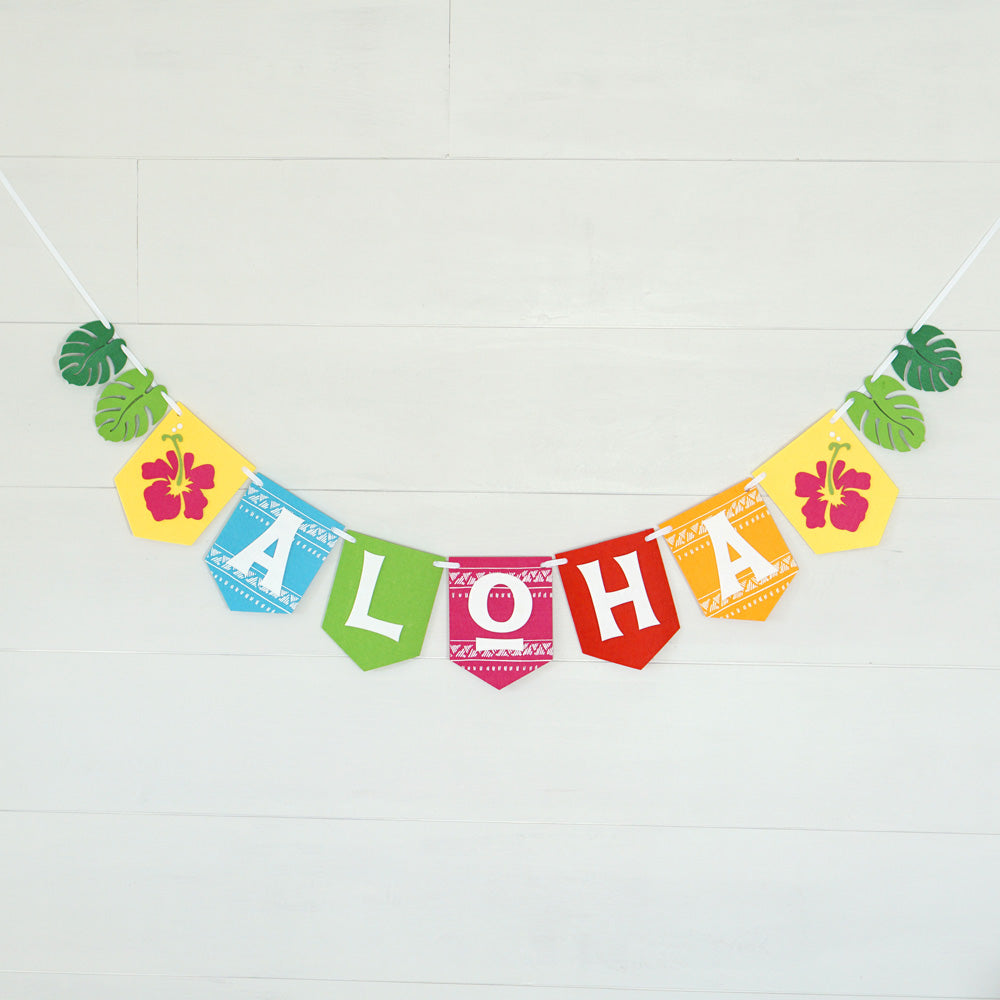 Aloha Luau Party Banner