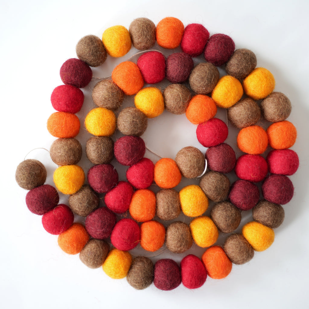 3cm Large Ball Garland - Give Thanks