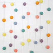 Small Ball Pastels Felt Ball Garland- 9ft