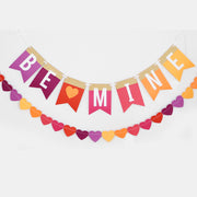 Bright Be Mine Banner with Gold Glitter