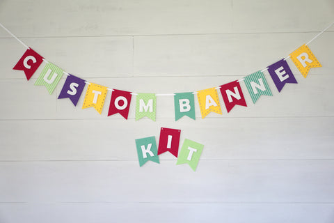 Custom Banner Kits Felt Laser Cut Banners - Beautiful Brights