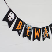 Beware Black and Orange Banner