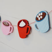 Hot Cocoa Mugs Garland