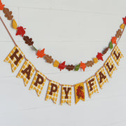 Happy Fall Gingham Print Banner