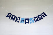 It's A Boy - Felt Laser Cut Banners - Blue