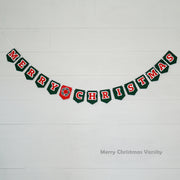 Merry Christmas Classic Varsity Banner