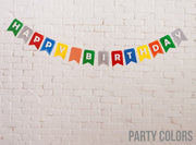Happy Birthday Banner- Party Colors