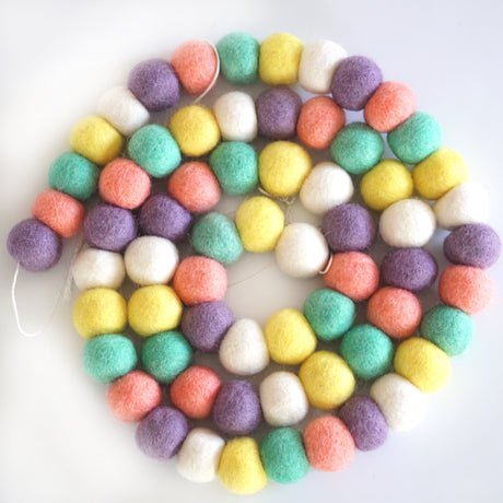 3cm Large Ball Garland- Pastel