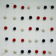 2cm Red, White & Navy Garland 9ft