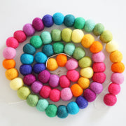 3cm Large Ball Garland- Rainbow Brights