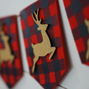 Reindeer Plaid Banner