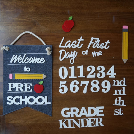 Back To School Custom Sign Kit