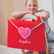 Red Valentine Letter Pouch