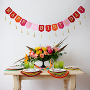 Boho Tassel Happy Birthday Banner