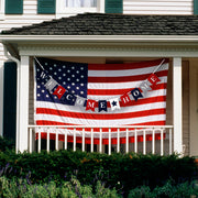 Welcome Home Banner Red, White and Blue