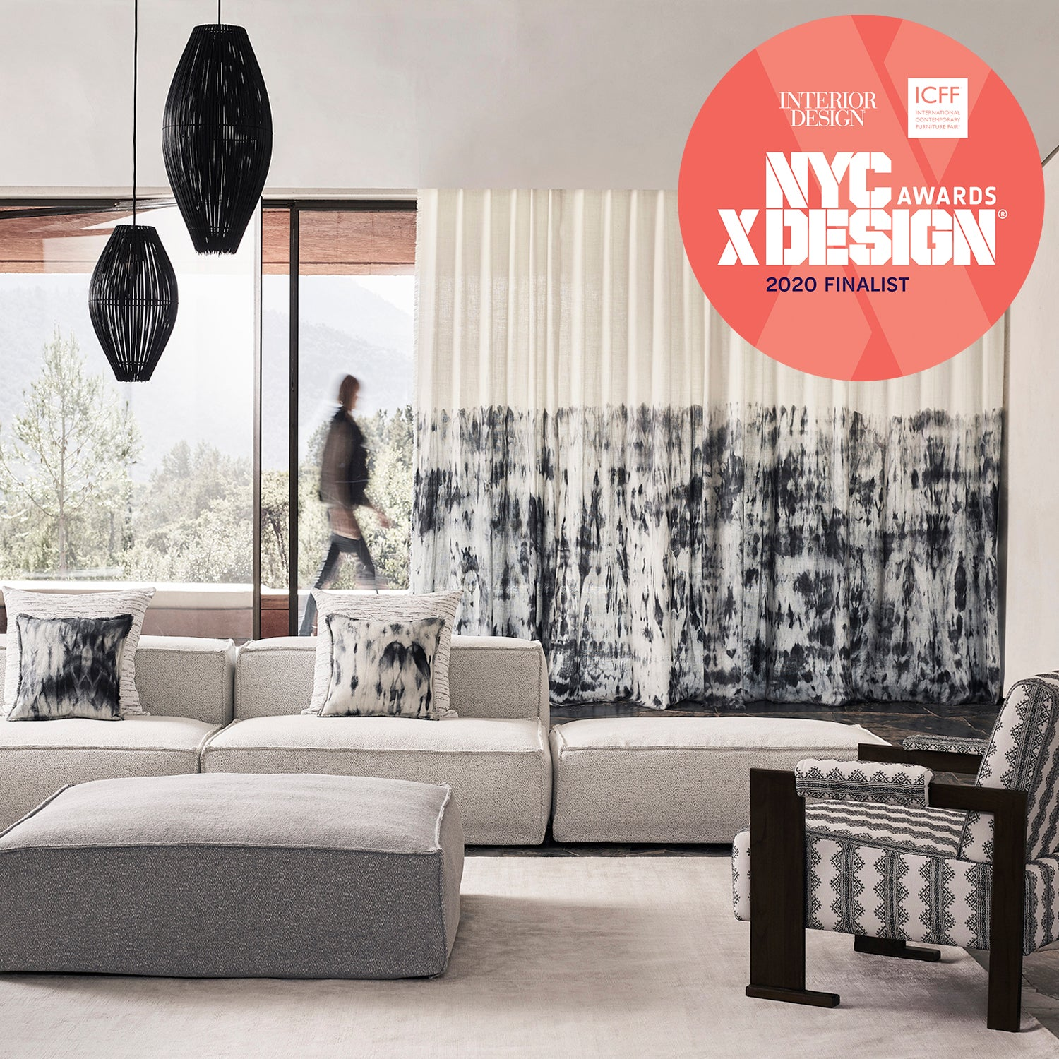 Watercolor Fabric - NYCxDesign Awards Finalist