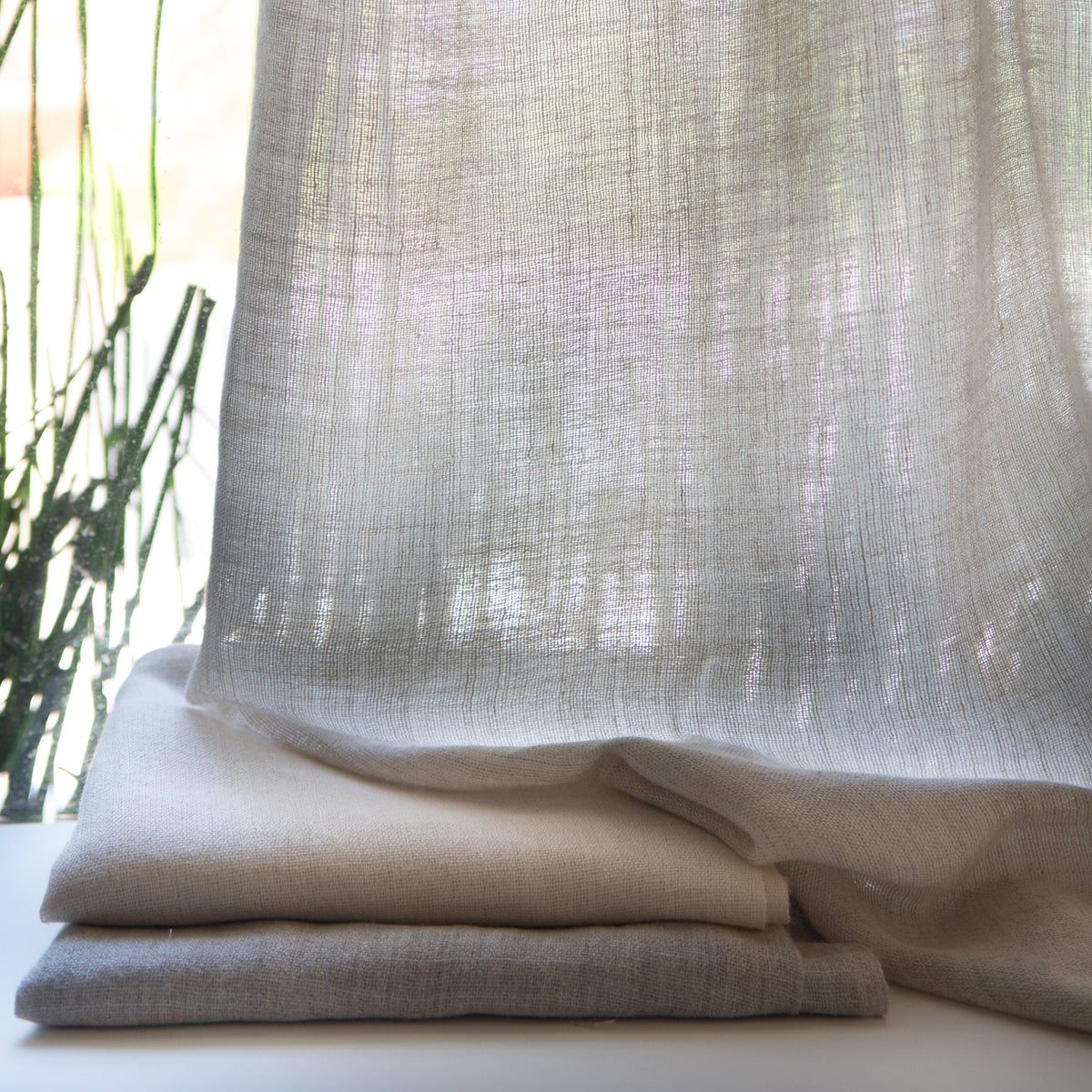 Alpaca Linen Sheer Fabric