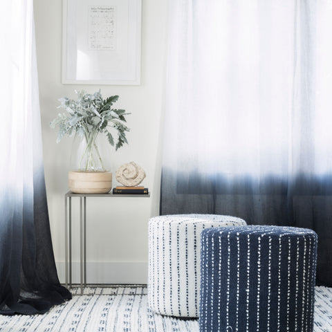 Ombre Sheer Linen Fabric