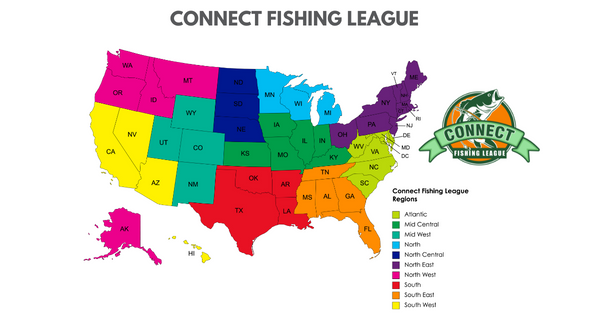 Connect Fishing League Regions