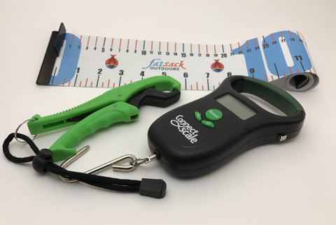 Bundle: ConnectScale Digital Scale + Lip Gripper + Fatsack Outdoors Tournament Ruler
