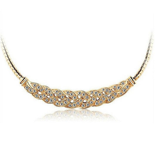Stylish Gold Plated Necklace - 1