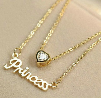 Gold Plated Princess Necklace - 1