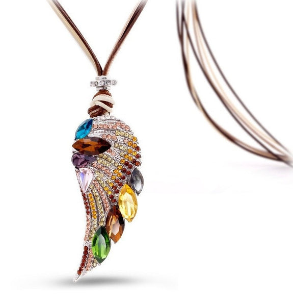 Angel Wing Long Necklace - 2