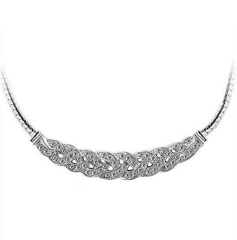 Stylish Silver Plated Necklace - 1