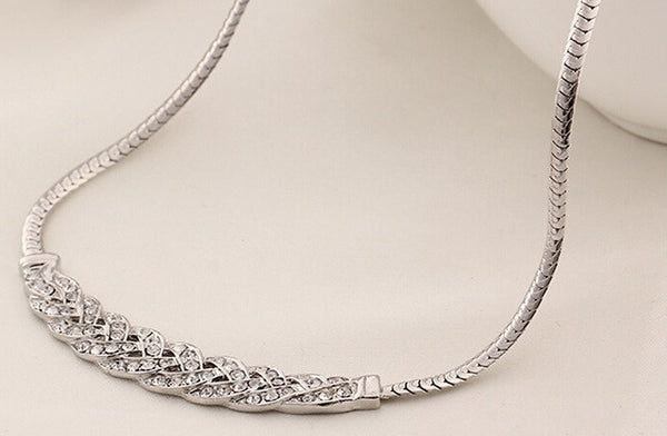 Stylish Silver Plated Necklace - 4