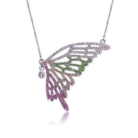 Colorful Butterfly Necklace - 2