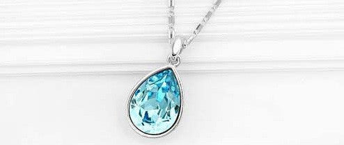 Water Drop Silver Plated Necklace - 2