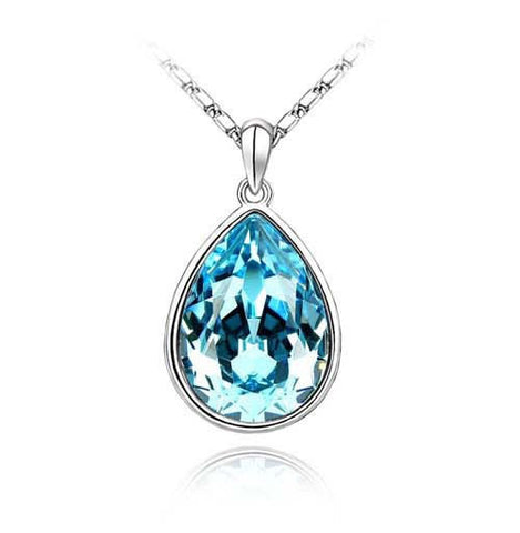 Water Drop Silver Plated Necklace - 1