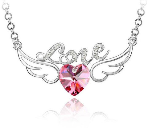Angel Wings Love Necklace