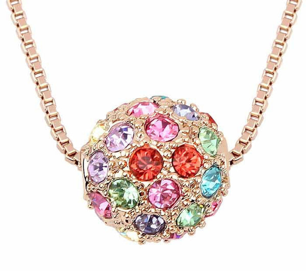 Gold Plated Ball Necklace - 1